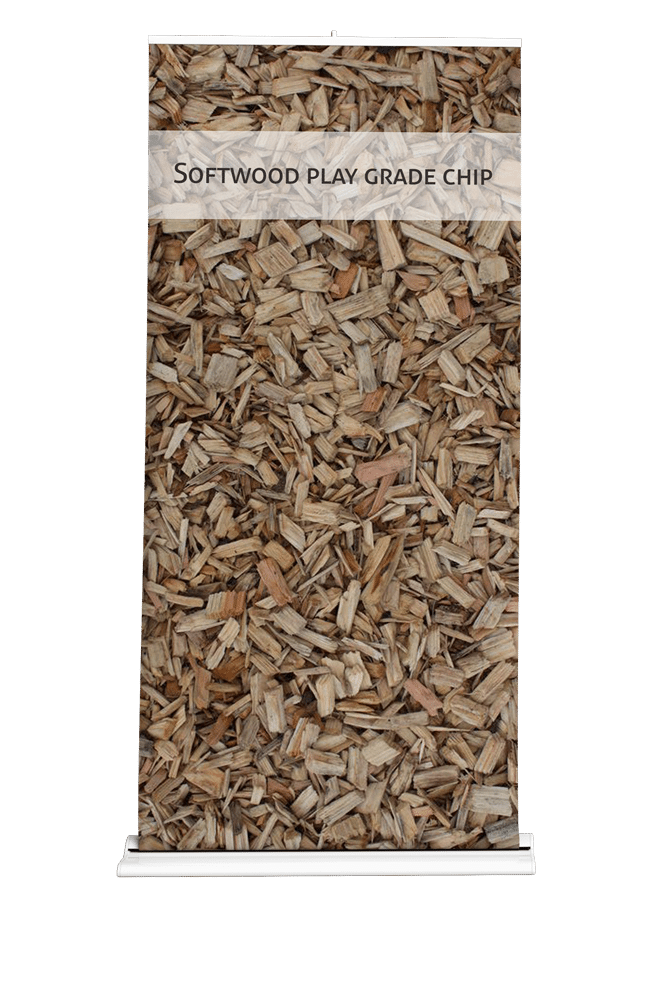 Play wood chips for landscaping, garden and surfaces with large bulk delivery capabilities
