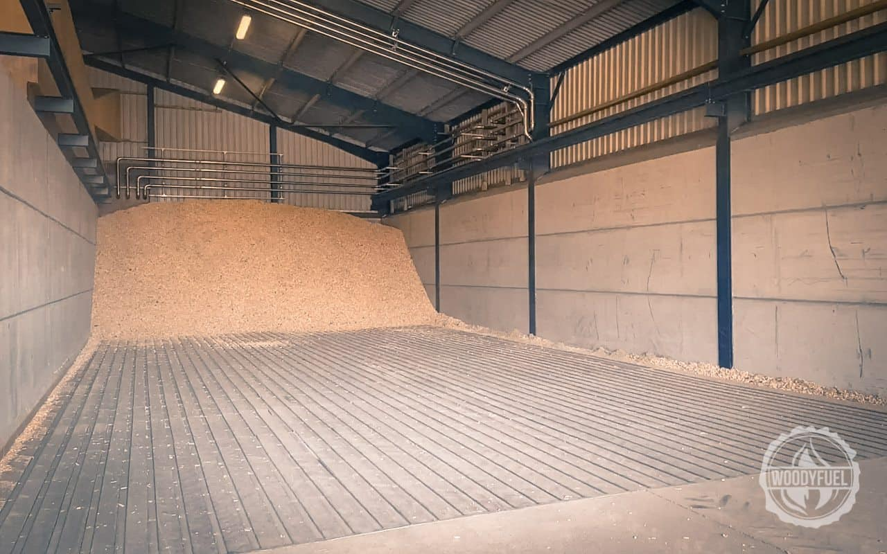 Biomass high tech drying floors for wood chip