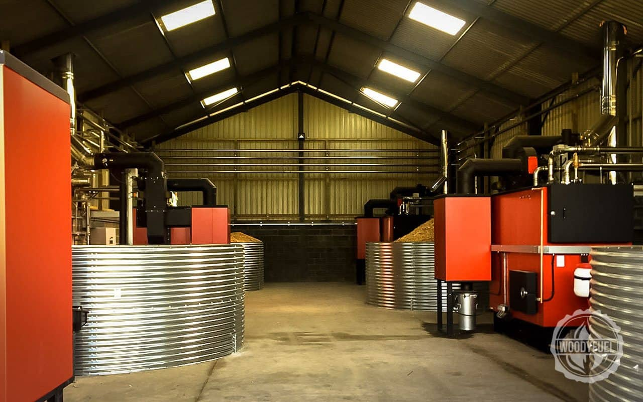 Biomass boiler perfectly optimised by Woodyfuel's green energy