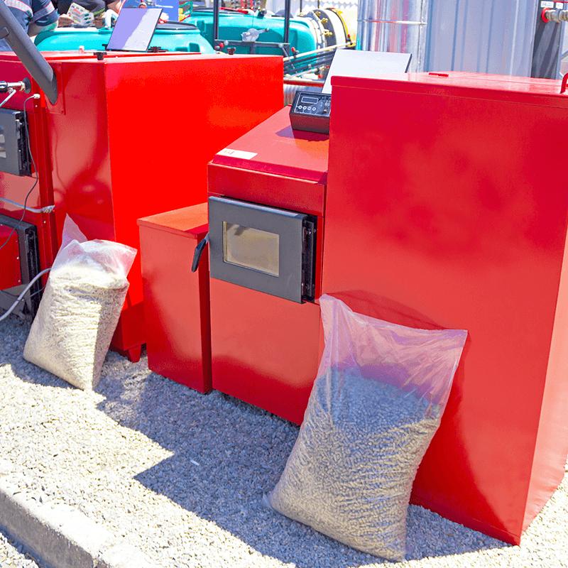 Red pellet boiler