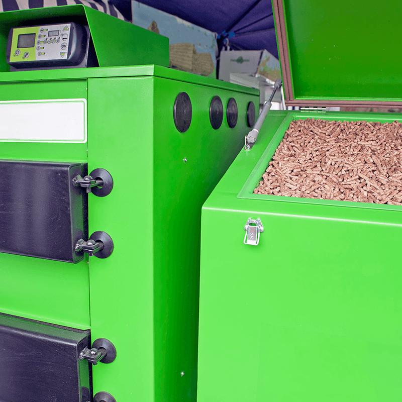 Green pellet boiler
