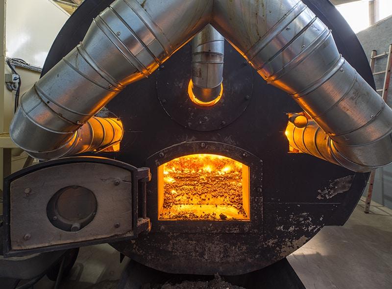 Wood fuel heating system savings