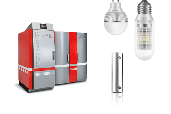 eco-fiendly home boiler batteries LED light