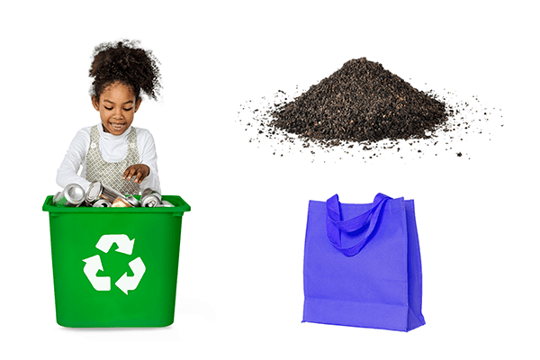 eco-fiendly home compost recycle bags