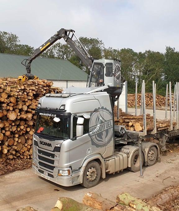 Wood fuel supplier truck