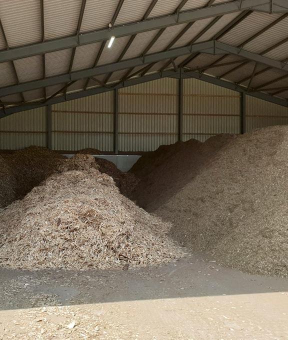 Wood fuel warehouse