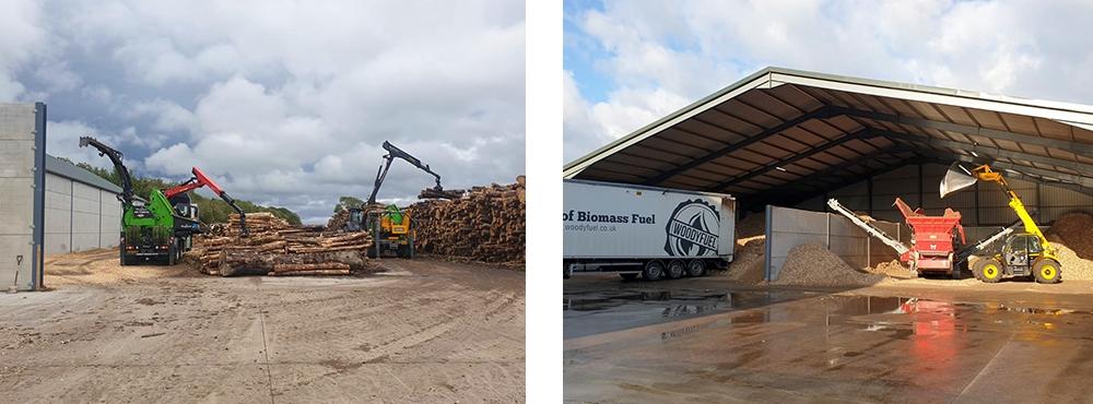 Woodyfuel Stocksfield wood fuel depot