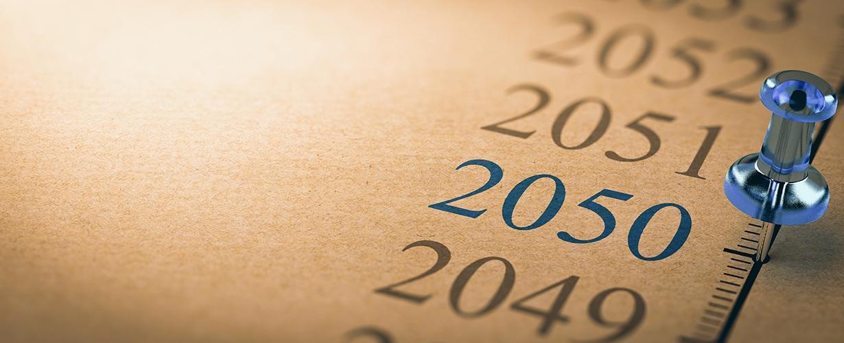 Zero-net carbon emissions target 2050